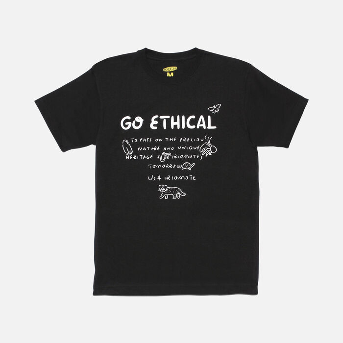 US 4 IRIOMOTE チャリティTシャツ『GO ETHICAL』 in Black - large view.