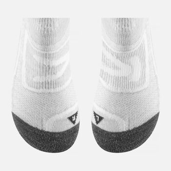 Women's Zip Low Cut Socks in Soft Grey / Natural - large view.