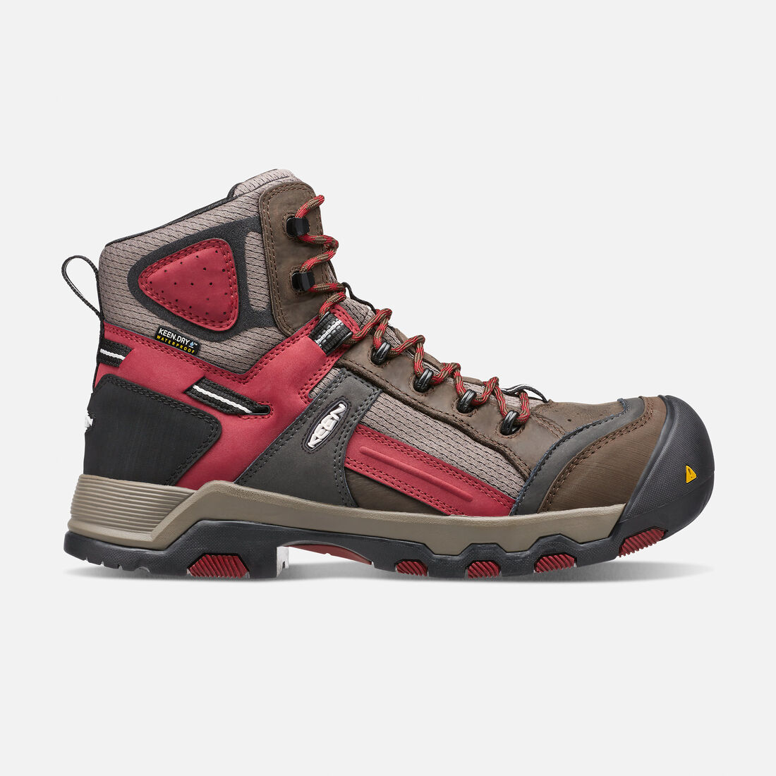 Men's DAVENPORT Waterproof Mid (Composite Toe) in Cascade Brown/Red Dahlia - large view.