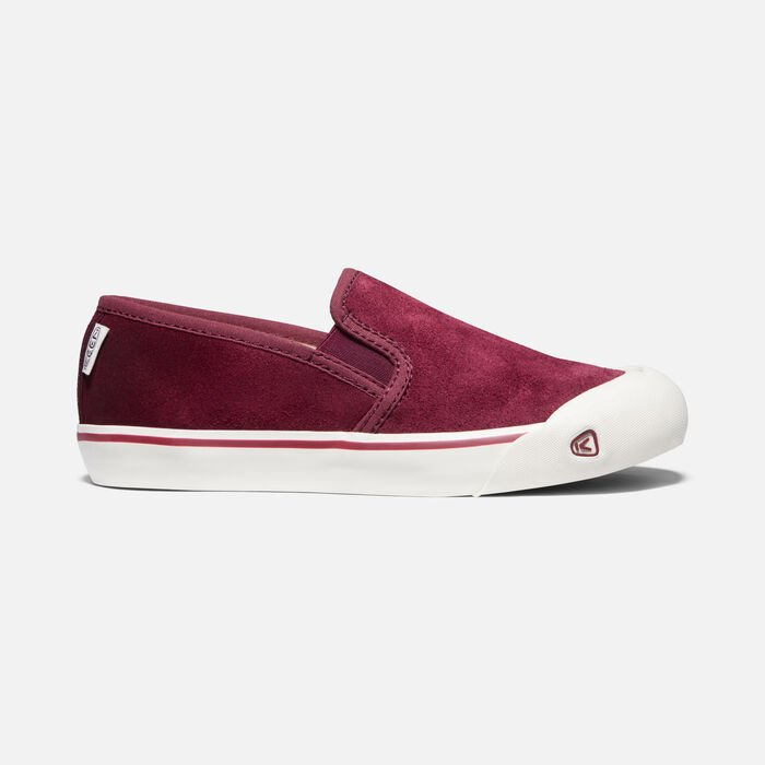 Women's Coronado III Suede Slip-On in BURGUNDY - large view.