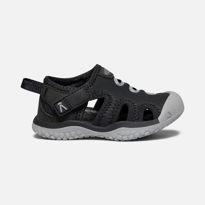 Toddlers' Stingray Sandal in Black/Drizzle - large view.