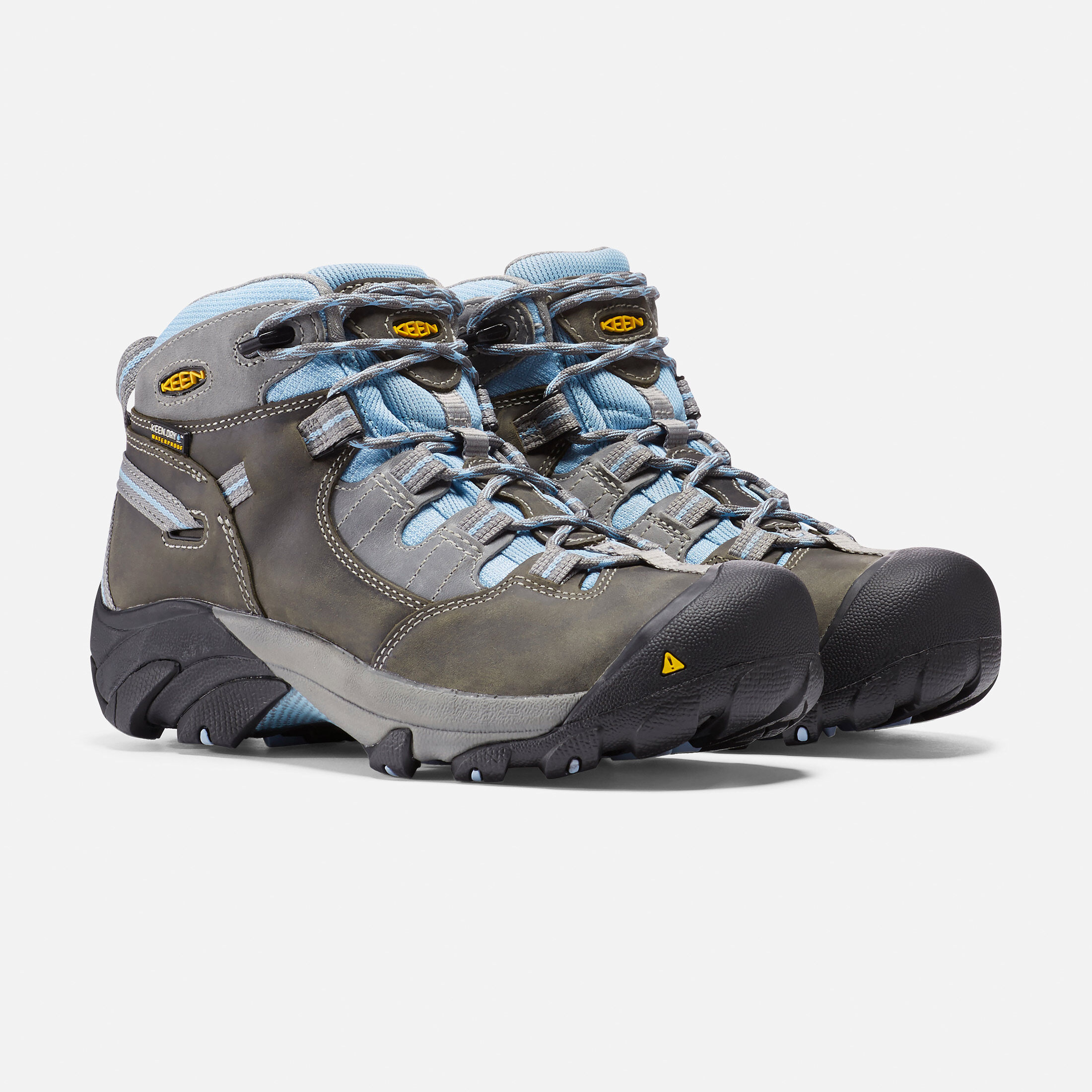 Keen Utility Women's Detroit Mid Soft Toe Industrial and Construction Shoe, Magnet/Blue Bell, 8.5 M US