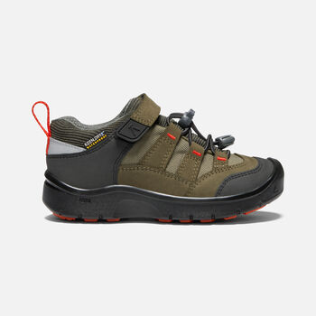 YOUNGER KIDS' HIKEPORT WATERPROOF HIKING TRAINERS in MARTINI OLIVE/PUREED PUMPKIN - large view.