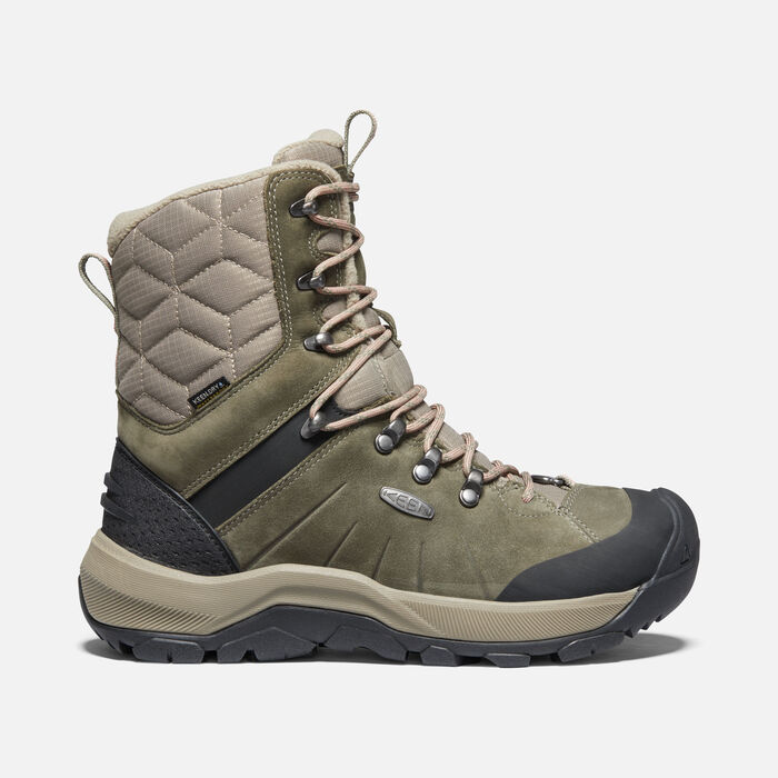 Women's Revel IV High Polar Boot in Dusty Olive/Rose Dawn - large view.