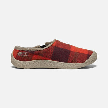 FEMMES HOWSER SLIDE in RED PLAID/BRINDLE - large view.