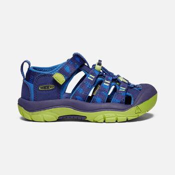 Little Kids' Newport H2 in Blue Depths/Chartreuse - large view.