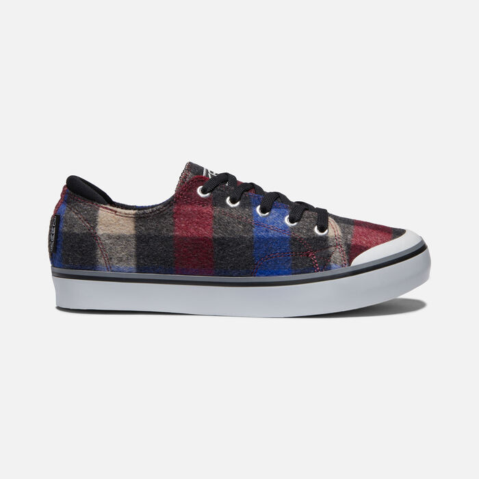 ELSA III PLAID SNEAKER POUR FEMME in COMBO/BLACK - large view.