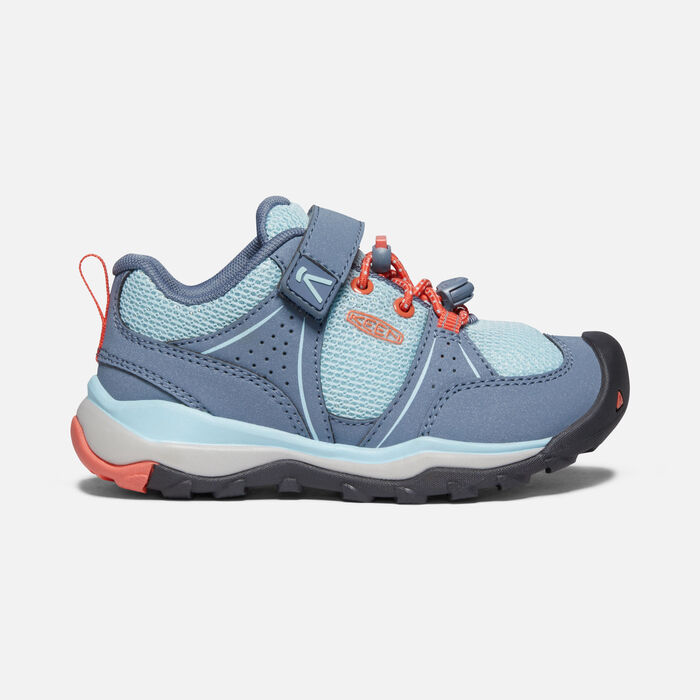 Younger Kids' Terradora II Sport Vent Hiking Shoes in Flint Stone/Coral - large view.