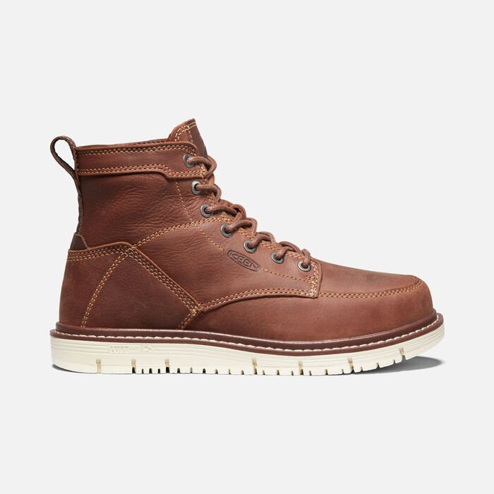 """Women's San Jose 6"""" Boot (Soft Toe) in Gingerbread/Off White - large view."""