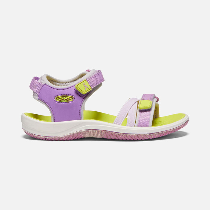Big Kids' Verano Sandal in African Violet/Evening Primrose - large view.
