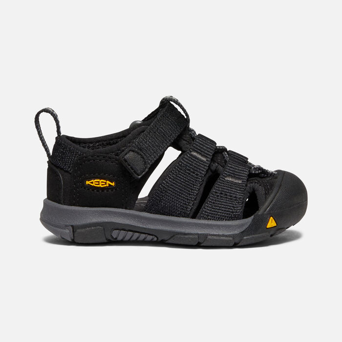 Toddlers' Newport H2 Sandals in Black/KEEN Yellow - large view.