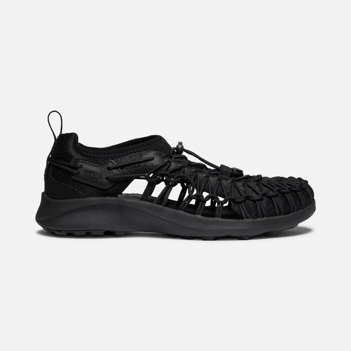 Women's Uneek SNK Shoe in Black/Black - large view.