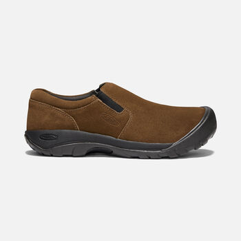 Men's Austin Casual Suede Slip-On in DARK EARTH - large view.