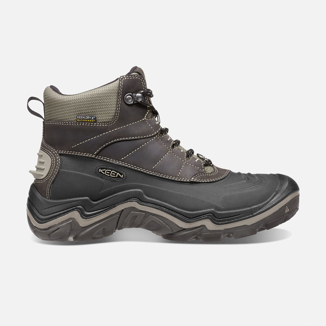 Men's Durand Polar Shell in Black Olive/Brindle - large view.