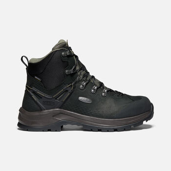 Men's Wild Sky Waterproof Hiking Boots in Black/Dusty Olive - large view.