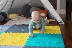 Sensory Play Mat in  - on-body view.