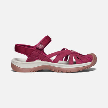 Women's Rose Sandal in Raspberry Wine - large view.