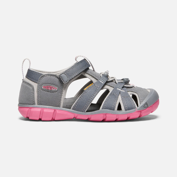 Older Kids' Seacamp II Cnx Sandals in STEEL GREY/RAPTURE ROSE - large view.