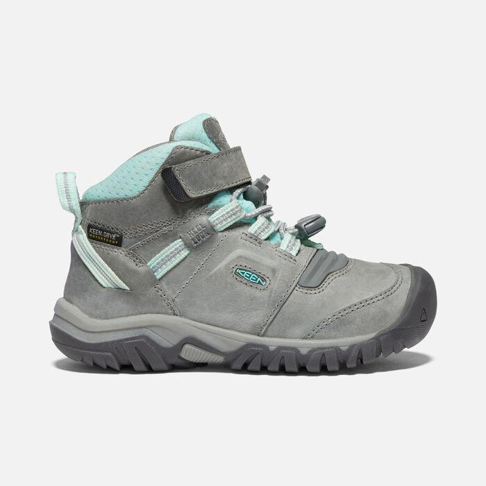 Younger Kids' Ridge Flex Waterproof Boot in Grey/Blue Tint - large view.