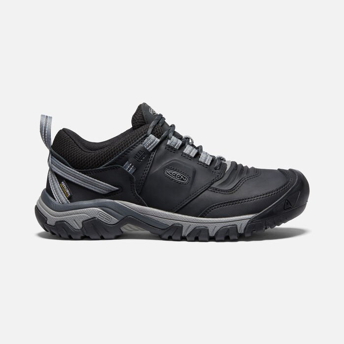 Men's Ridge Flex Waterproof Hiking Shoes in Black/Magnet - large view.