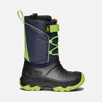 Little Kids' LUMI Waterproof Winter Boot in BLUE NIGHTS/GREENERY - large view.