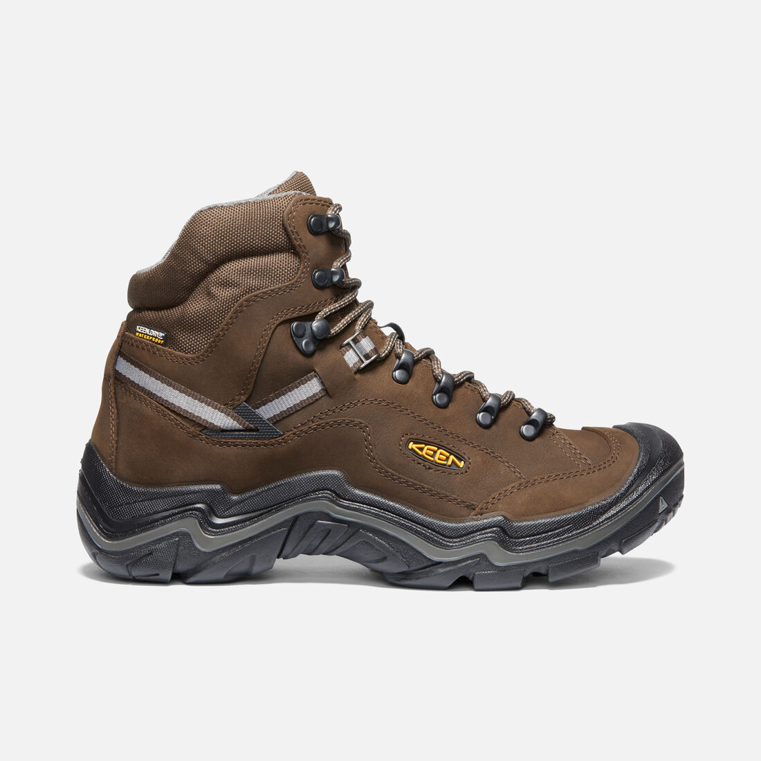 Men's DURAND II MID WP WIDE in CASCADE BROWN/GARGOYLE - large view.