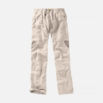 Men's Slacker Casual Trousers in Stone/Khaki - large view.