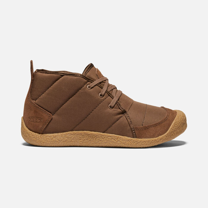 Women's Howser Quilted Chukka in DARK EARTH/GUM - large view.