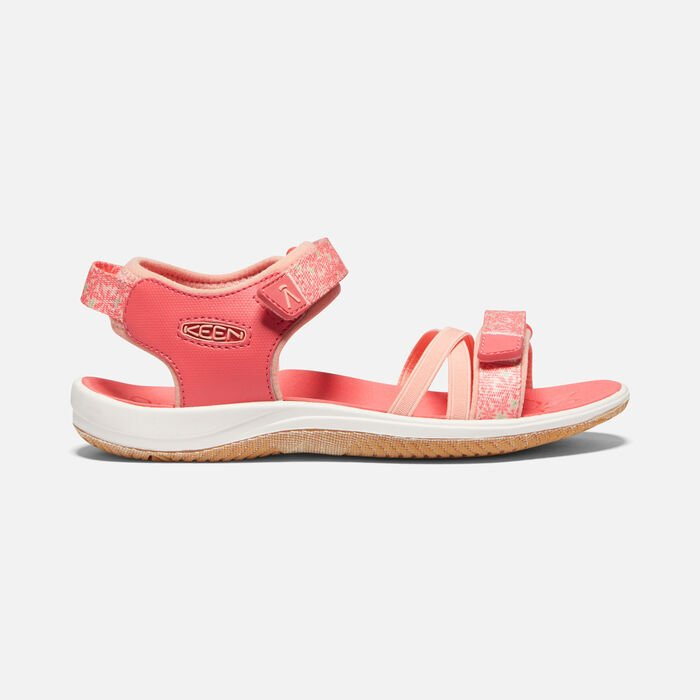 Big Kids' Verano Sandal in Dubarry/Peach Pearl - large view.