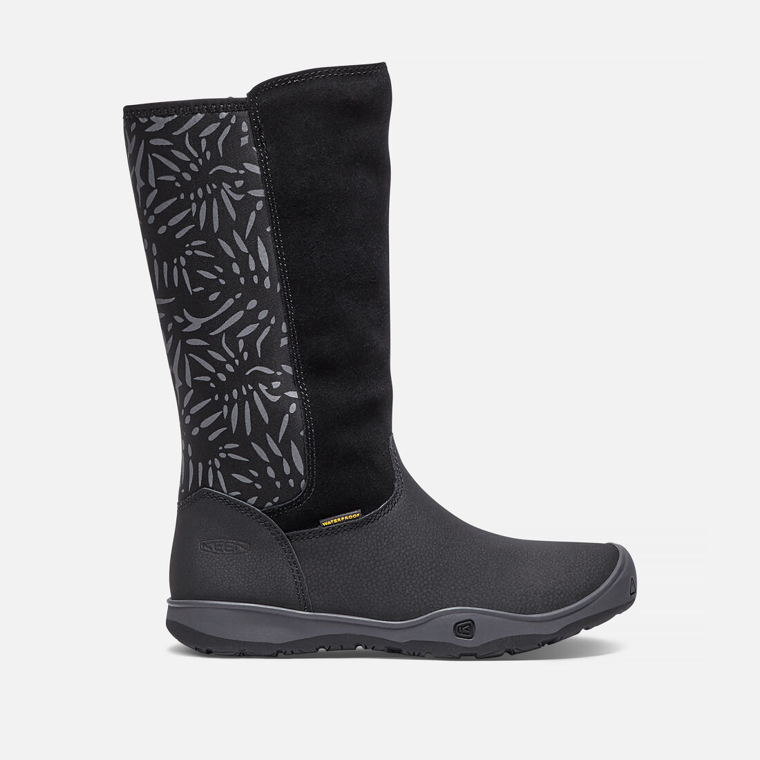 Big Kids' MOXIE TALL Waterproof Boot in Black/Magnet - large view.