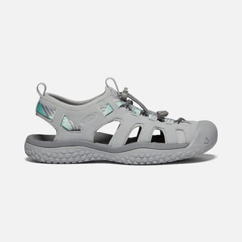 Women's SOLR Sandals in Light Gray/Ocean Wave - large view.
