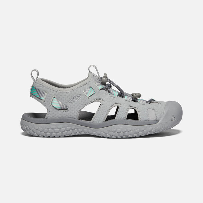 Women's SOLR Sandal in Light Gray/Ocean Wave - large view.