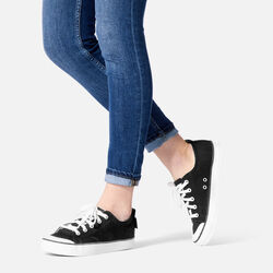 Women's ELSA SNEAKER in  - on-body view.