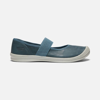 WOMEN'S LORELAI MARY JANE BALLET FLATS in BLUE MIRAGE - large view.