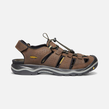 Men's Rialto II Leather Hiking Sandals in Bison/Black - large view.