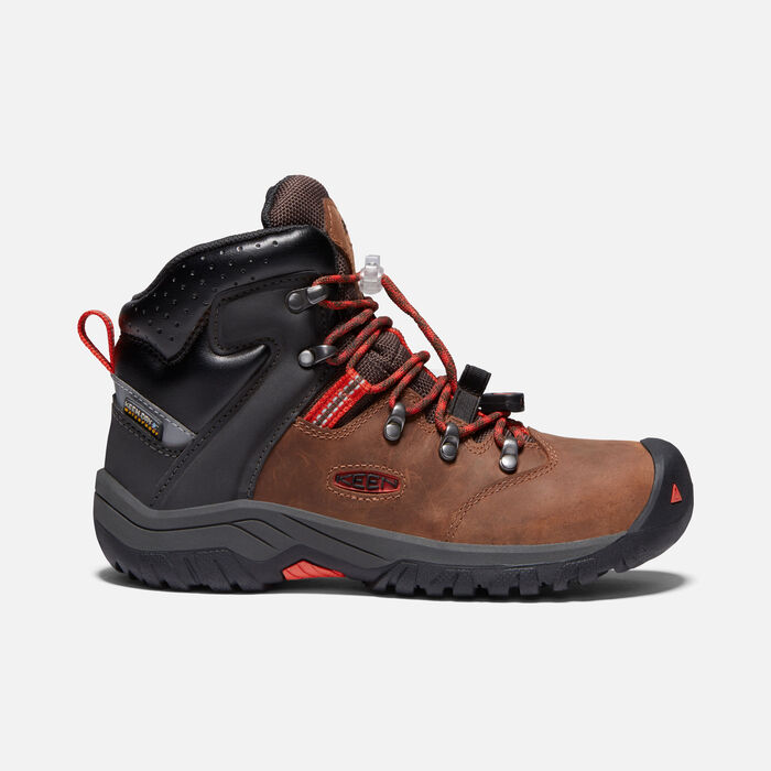 Torino II Waterproof Boot Pour Jeunes in TORTOISE SHELL/FIREY RED - large view.
