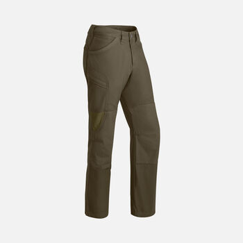 Men's Flint Casual Trousers in Black Olive/Olive Green - large view.