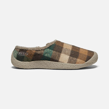 WOMEN'S HOWSER SLIDE in BROWN PLAID/BRINDLE - large view.