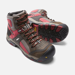 Men's DAVENPORT Waterproof Mid (Composite Toe) in Cascade Brown/Red Dahlia - small view.