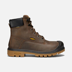"Men's BALTIMORE 6"" Waterproof Boot (Steel Toe) in Brown - small view."