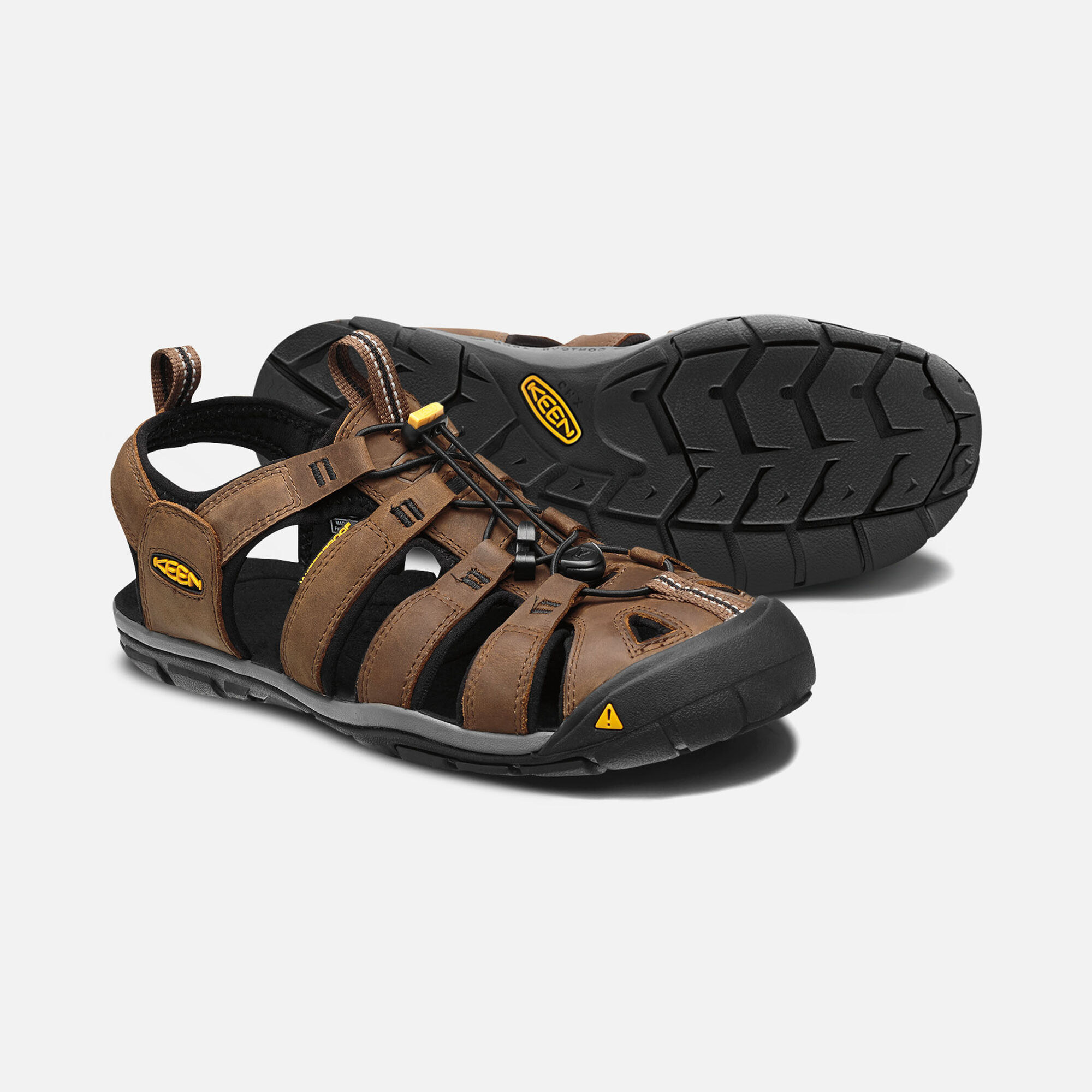 e15df27244d6 MEN S CLEARWATER LEATHER CNX SANDALS in Dark Earth Black - small view.