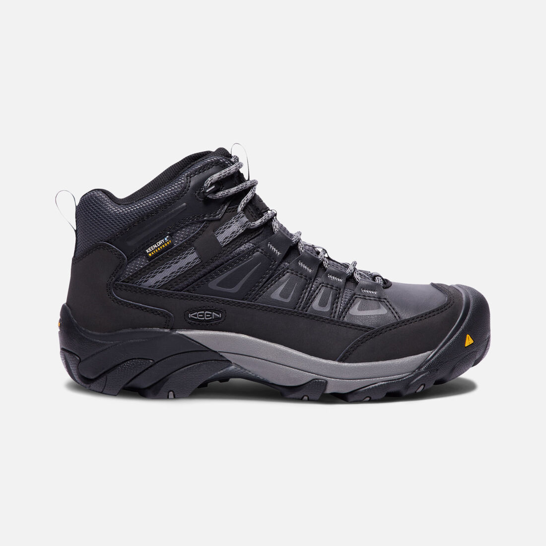 Men's BOULDER Waterproof Mid (Steel Toe) in MAGNET/GARGOYLE - large view.