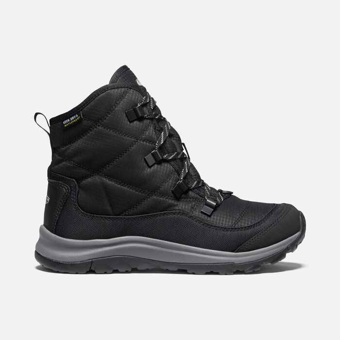 Women's Terradora II Winter Waterproof Boot in Black/Drizzle - large view.