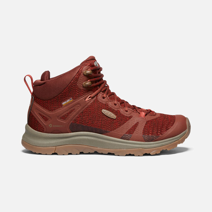 Women's Terradora II Waterproof Hiking Boots in Cherry Mahogany/Bossa Nova - large view.