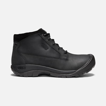 Austin Casual Waterproof Boot Pour Homme in BLACK/RAVEN - large view.
