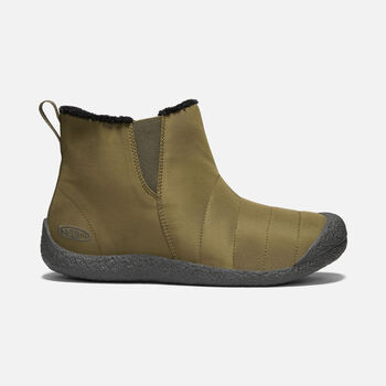 Men's Howser Mid Slipper Boots in DARK OLIVE/RAVEN - large view.
