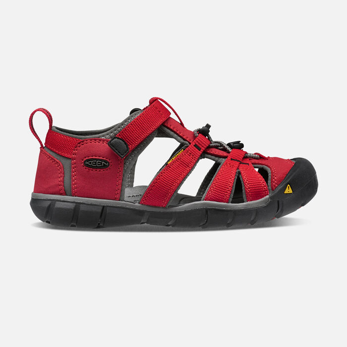 Younger Kids' Seacamp II Cnx Sandals in RACING RED/GARGOYLE - large view.