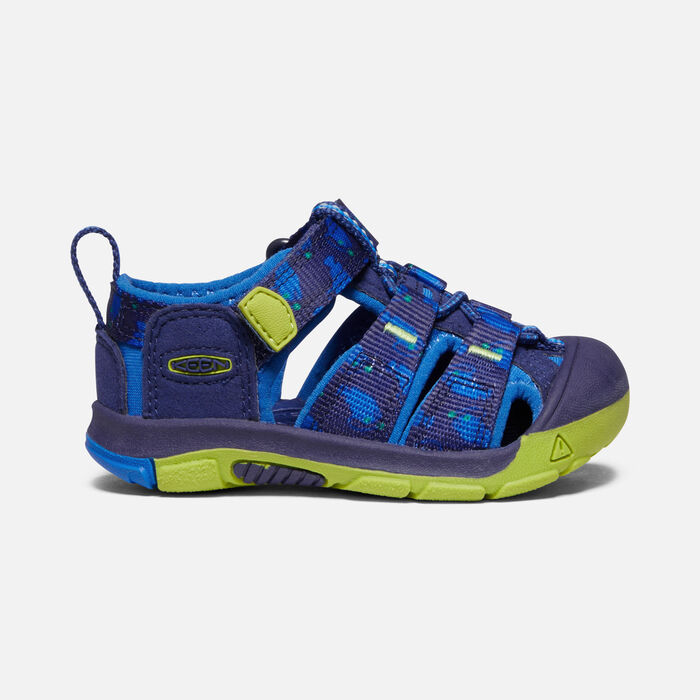 Toddlers' Newport H2 Sandals in Blue Depths/Chartreuse - large view.