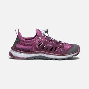 WOMEN'S TERRADORA ETHOS HIKING TRAINERS in GRAPE WINE/GRAPE KISS - large view.