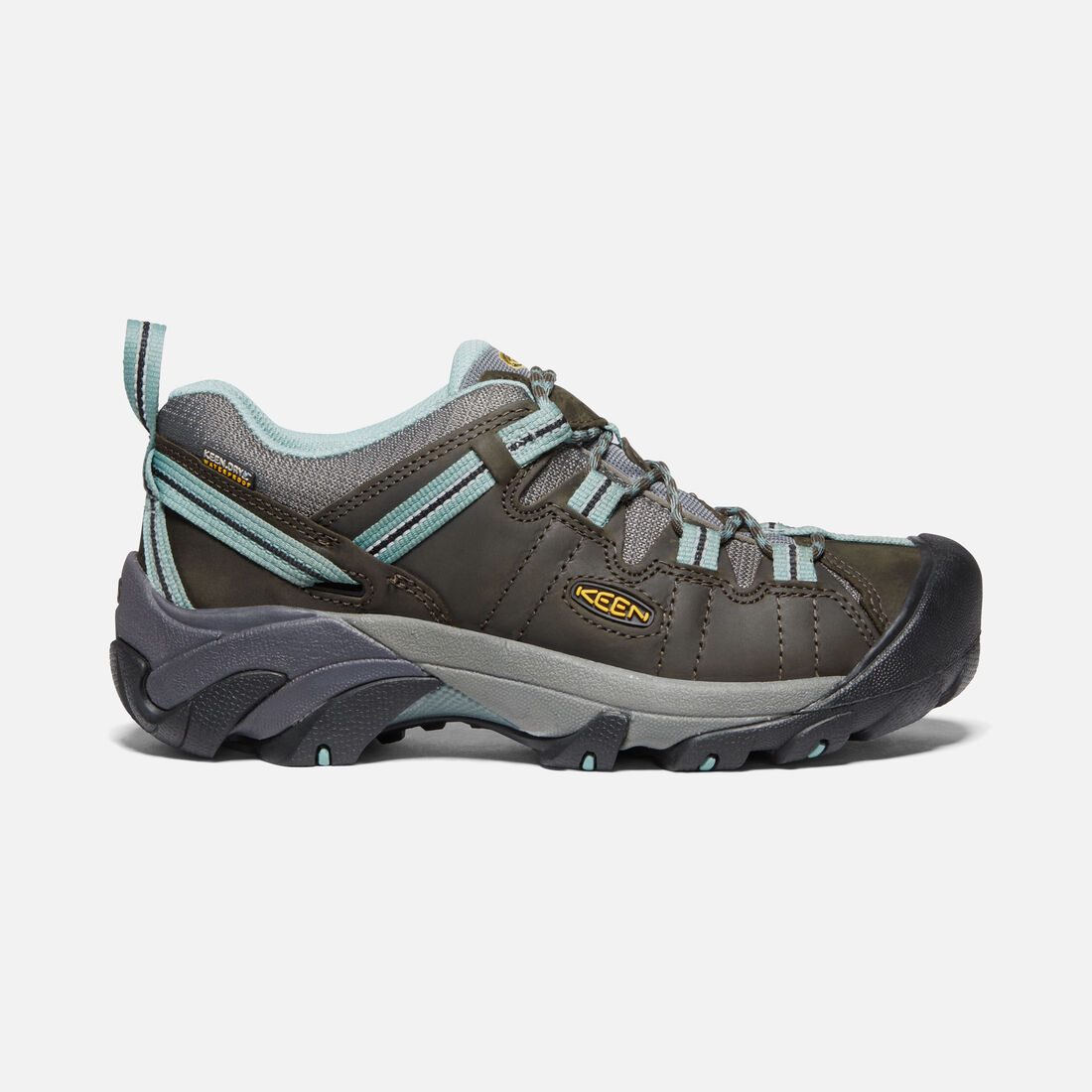 Women's Targhee II Waterproof in Black Olive/Mineral Blue - large view.